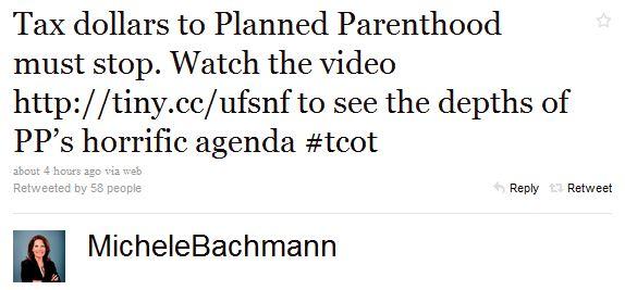 Bachmann Tweet