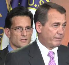 Reps. John Boehner and Eric Cantor