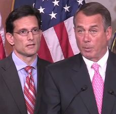 Reps. Eric Cantor and John Boehner