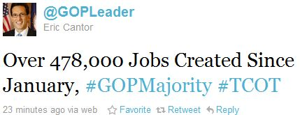 Cantor jobs tweet