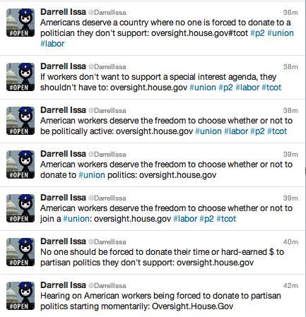 Rep. Darrell Issa tweets
