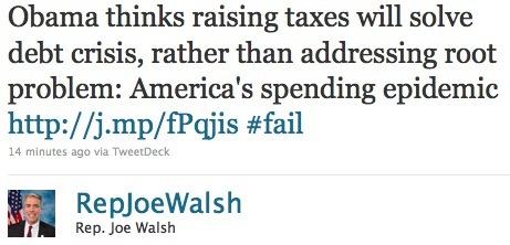 Rep. Joe Walsh tweet