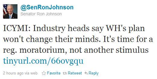 Sen. Ron Johnson Tweet