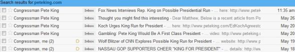 King emails