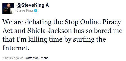 Rep. Steve King Tweet