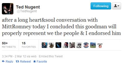 Nugent tweet